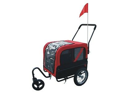 S# New Red Foldable Pet Bike Trailer Bicycle Stroller Jogger Dog Carrier Cat Pra
