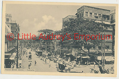 Old Postcard British India Kolkata Calcutta Native Street Scene 1900s AL372