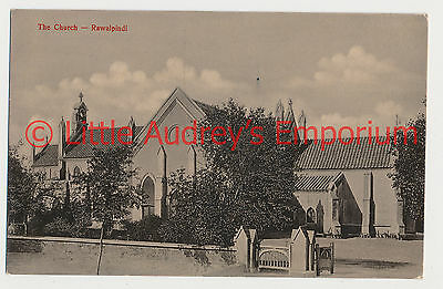 Old Postcard Pakistan British India The Church Rawalpindi Pindi 1900s AL371