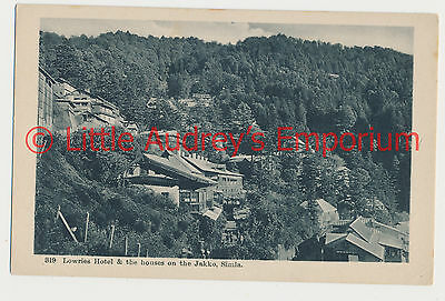 Old Postcard India Lowries Hotel & the houses on the Jakko Simla 1900s AL379