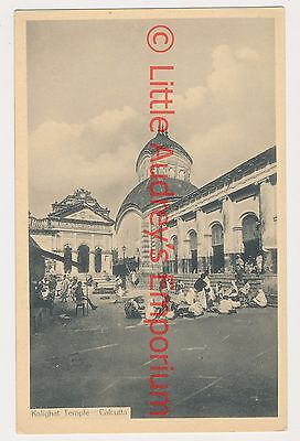 Old Postcard British India Kolkata Calcutta Kalighat Temple 1900s AL374