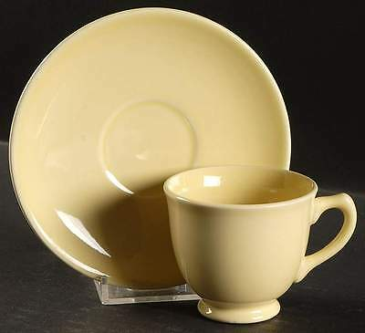 Taylor, Smith & Taylor LURAY PASTELS YELLOW Demitasse Cup & Saucer 10154449
