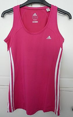 Bright Pink Adidas Sports Vest Top - Size 12 UK