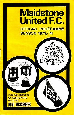 MAIDSTONE UTD v MARGATE 1973/74 SOUTHERN LEAGUE CUP