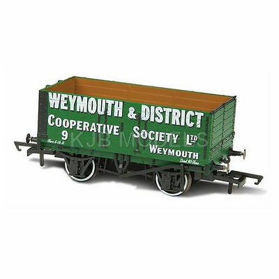 BNIB OXFORD RAIL OR76MW7004B 7 PLANK MINERAL WAGON WEYMOUTH & DISTRICT CO-OP No9