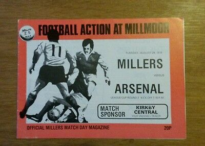 1978/9 Rotherham vs Arsenal League Cup 2nd Rnd
