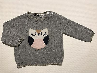 Country Road Baby Girls Gorgeous Wool Owl Jumper Size 00