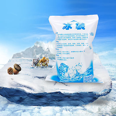 20pcs Reusable 400ml Cold Ice Gel Pack Cooler Bag Pain Therapy Camping Food