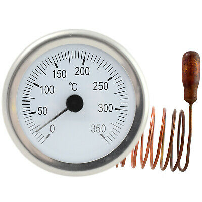 DIAL Thermometer capillary tube Temperature Gauge 0-350C 1,5m remote sensor 52mm