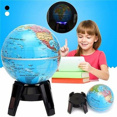 Automatic Electric Rotary World Globe Earth Atlas Map Geography Education Craft