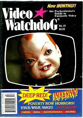 Video Watchdog Magazine #61 Dario Argento Deep Red Inferno Ex Condition
