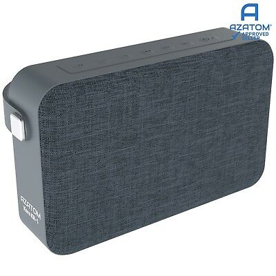 Bluetooth Speaker iPhone Android iPod 24 Watts 20hr Battery AZATOM KARA GREY
