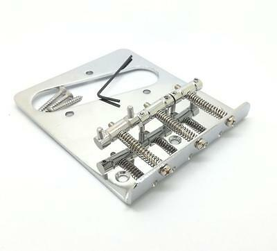 New Chrome 3 Saddle Ashtray Bridge For Fender Telecaster TELE Electric Guitar AB