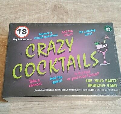 Crazy Cocktails Board Game +18's WILD PARTY DRINKING PARTY GAME NEW SEALED.
