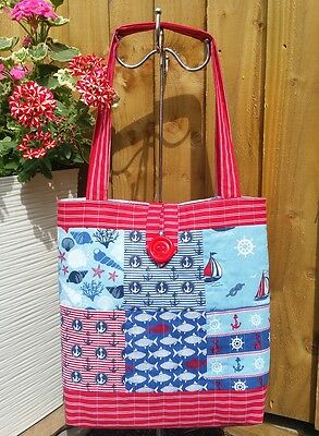 Quality Sewing Craft Kit - Patchwork Quilted Tote Bag Days by the Sea