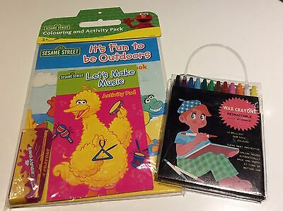 Sesame Street Colouring And Activity Pack with Additional Crayon Pack