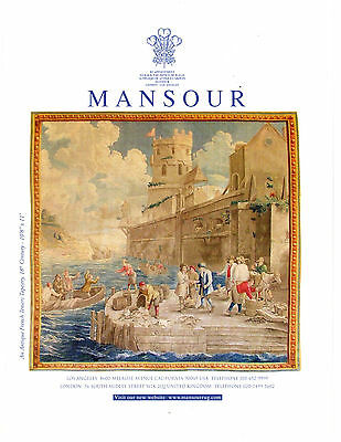 French Teniers Tapestry Full Color Print AD 18th Century Mansour Rug
