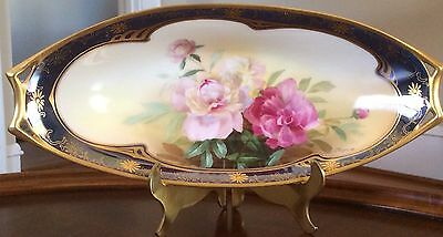 Pickard Studio Hand-Painted China Signed Artist Paul Gasper Oval Dish Antique