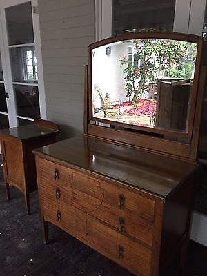 dressing table with mirror And Matching Bedside Table