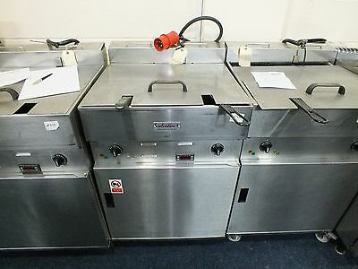 Valentine Twin Basket Single Tank Electric Fryer with Self-Filtration System
