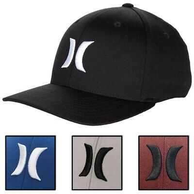 Hurley Men's One and Only Flex Fit Stretch Fitted Hat Cap - Black