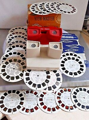 VINTAGE VIEWMASTER 2 x VIEWERs by SAWYERS + Approx 26 Reels Inc Buck Rogers.