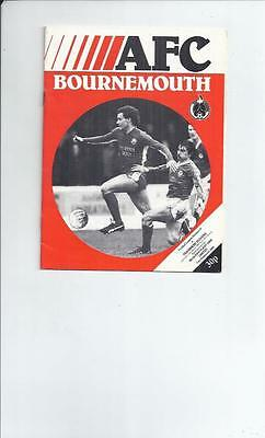 Bournemouth v Tranmere Rovers Football Programmes 1981/82 + insert