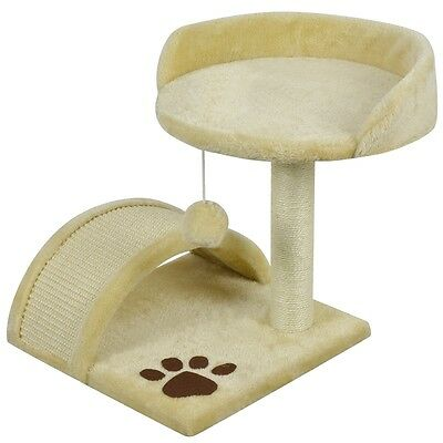 vidaXL Cat Scratching Post Tree Scratcher Furniture Gym House Toy 40cm Yellow