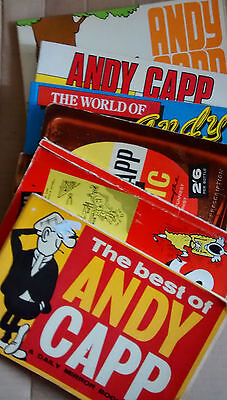 ANDY CAPP  5 cartoon strip books plus one other. 1960s onwards.  free post