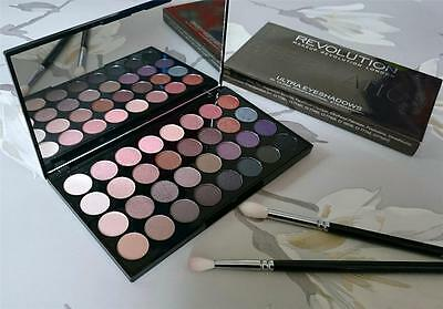 MAKEUP REVOLUTION Affirmation EYESHADOW PALETTE 32 COLOURS Nude Matte & Metallic