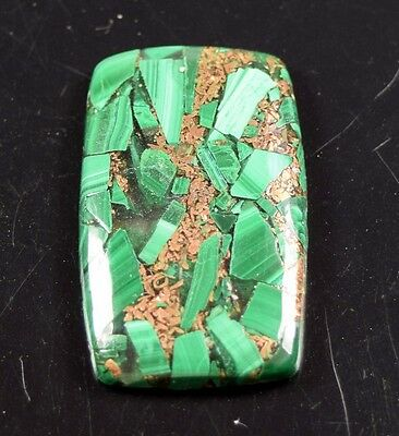 Elegant 40.70 Cts. Natural Copper Malachite Cushion Cabochon Loose Gemstones