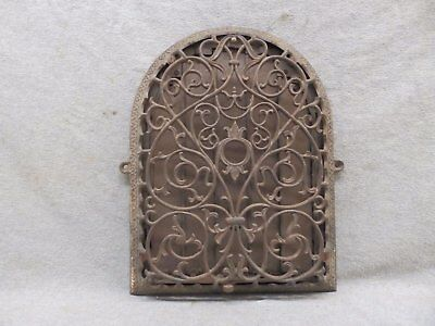 Antique Cast Iron Arch Top Dome Heat Grate Wall Register Victorian 12X9 49-17P