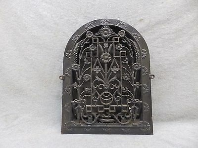 Antique Cast Iron Arch Top Dome Heat Grate Wall Register Floral Vtg 12X8 50-17P
