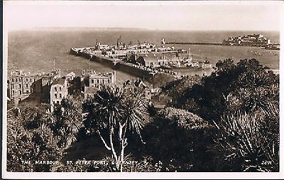Rp Postcard The Harbour St Peters Port Guernsey C1930's