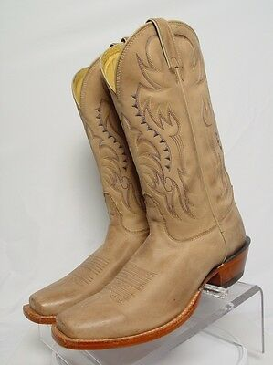 USA NOCONA LEGACY Men 8.5-D Leather Square Toe Western Horse Cowboy Boots
