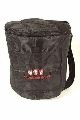 """Padded 8"""" Cuica Bag, in quilted nylon, with zip opening and shoulder strap"""