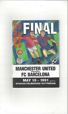 Manchester United v Barcelona European Cup Winners Cup Final 1991