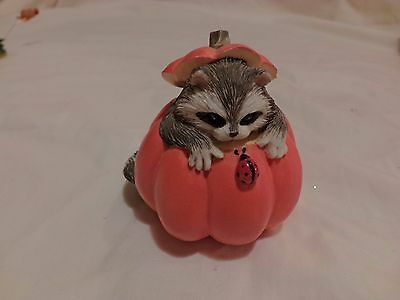 CHARMING TAILS REGINALD'S HIDEAWAY Raccoon Pumpkin 85/777 SIGNED DEAN GRIFF(78)