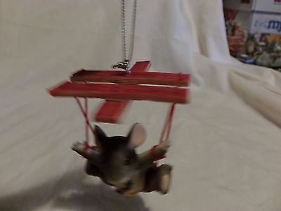 Charming Tails Silvestri MOUSE ON PUPPET STRING ORNAMENT(77)