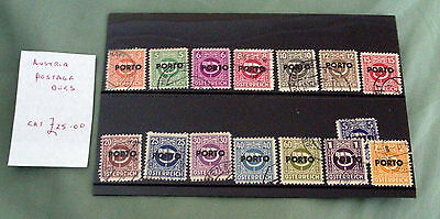 Austria Postage Due Stamps, Fine Used, Stated To Catalogue £25.