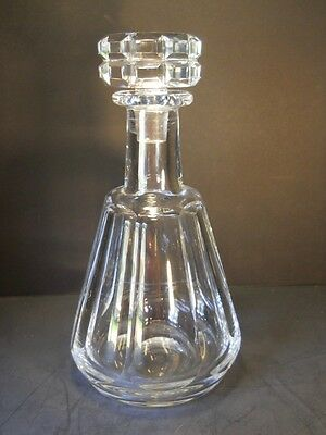 Baccarat Crystal Tallyrand Decanter with Cut Stopper, Cut Panels - Signed