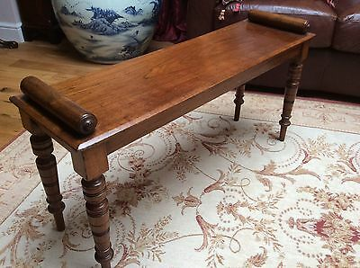 Antique Mahogany Window Seat