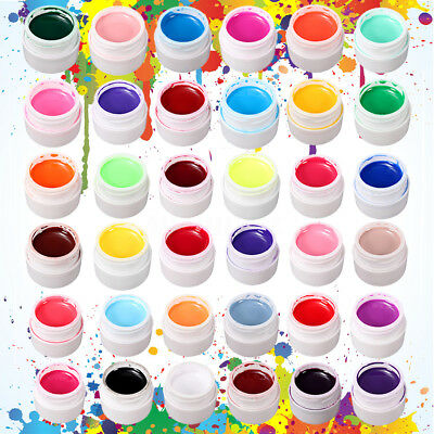36 Colors Puro UV Gel Uñas Arte Manicura Builder Manicura Decoración Nail Tips