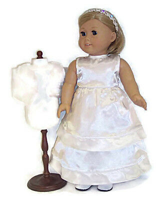 Communion Wedding Gown 3 piece Set fits 18 inch American Girl Doll Clothes