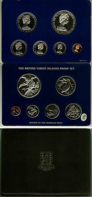 1978 British Virgin Islands Proof Set In Original Box