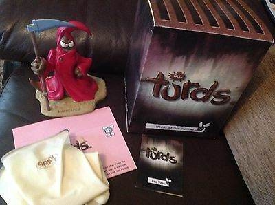 The Turds Figurines - Rim Reaper With Box and Log Book