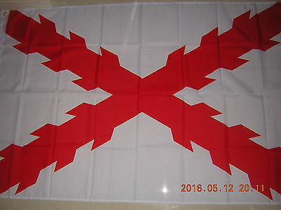 100% New Reproduced Flag of Cross of Burgundy Spain Spanish Empire Ensign 3X5 ft