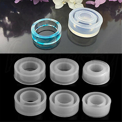 Clear Silicone Molds Making Charm Jewelry Ring Mold 3D Resin Casting Tool New
