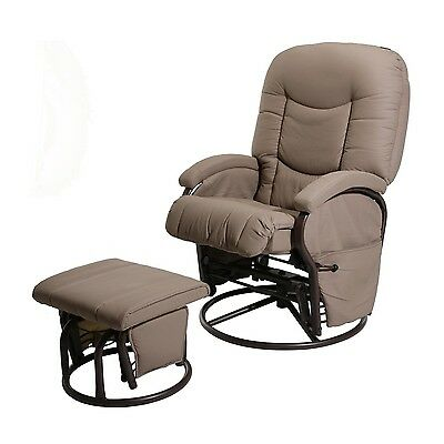 Kiddicare Cloud Nine Deluxe Glider Chair And Stool Nursing Chair