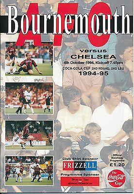 BOURNEMOUTH v Chelsea (League Cup) 1994/5